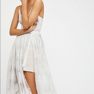 Free people matchpoint midi ivory dress